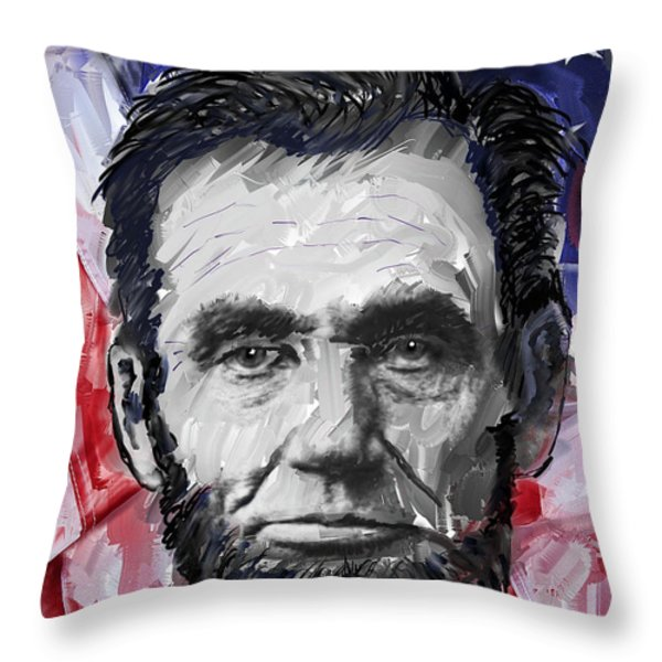ABRAHAM LINCOLN - 16th U S PRESIDENT Throw Pillow by Daniel Hagerman