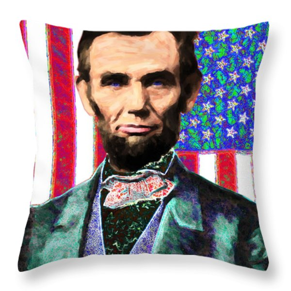 Abraham Lincoln 20130115 Throw Pillow by Wingsdomain Art and Photography