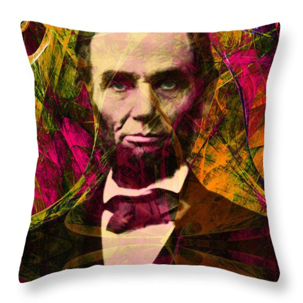 Abraham Lincoln 2014020502 Throw Pillow by Wingsdomain Art and Photography