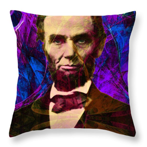 Abraham Lincoln 2014020502m118 Throw Pillow by Wingsdomain Art and Photography