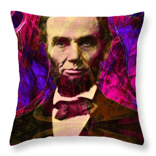 Abraham Lincoln 2014020502m68 Throw Pillow by Wingsdomain Art and Photography