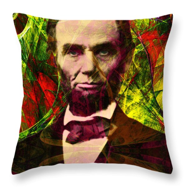 Abraham Lincoln 2014020502p28 Throw Pillow by Wingsdomain Art and Photography