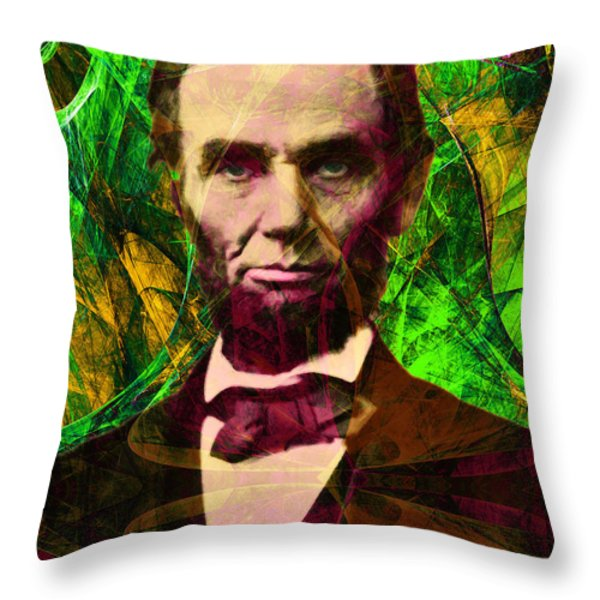 Abraham Lincoln 2014020502p68 Throw Pillow by Wingsdomain Art and Photography