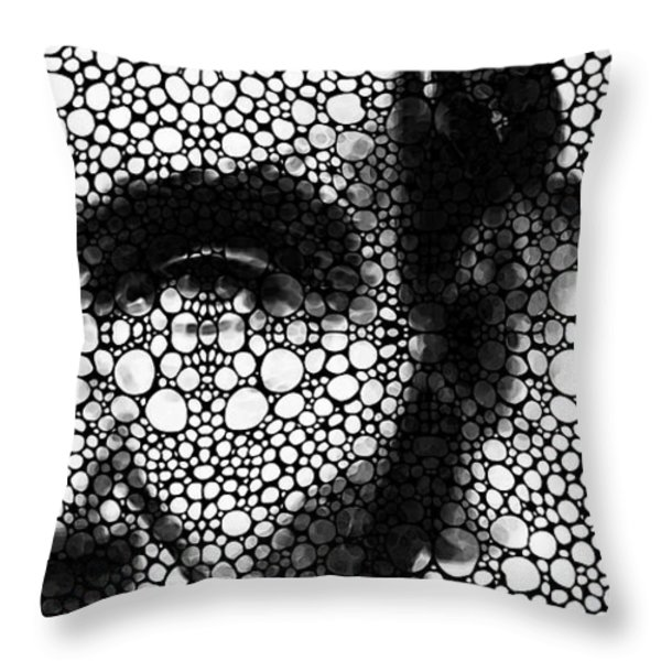 Abraham Lincoln - An American President Stone Rock'd Art Print Throw Pillow by Sharon Cummings