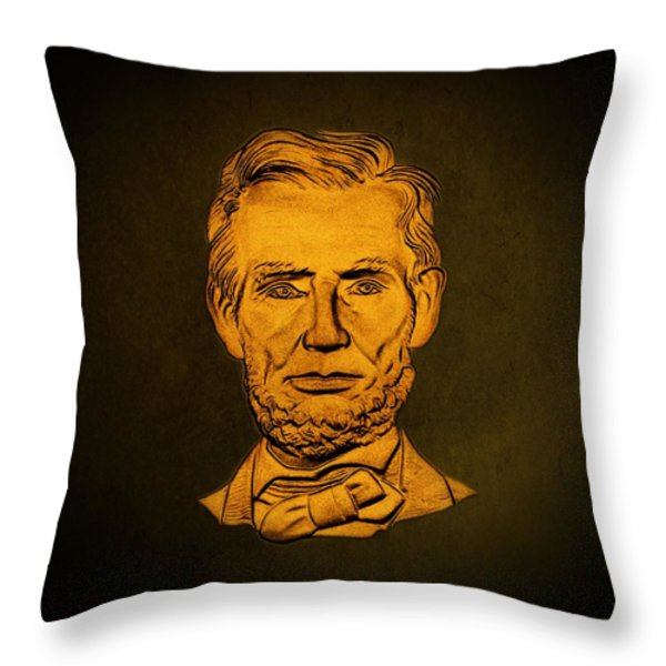 Abraham Lincoln  Throw Pillow by David Dehner