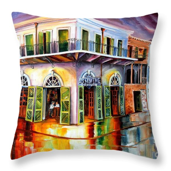 Absinthe House New Orleans Throw Pillow by Diane Millsap