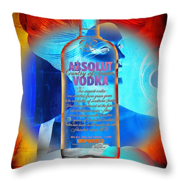 Absolut Psychedelic Throw Pillow by Chuck Staley