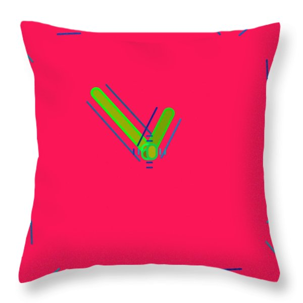 Abstract 051 Throw Pillow by Victor Gladkiy