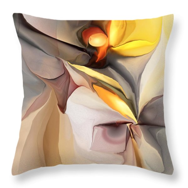Abstract 060213 Throw Pillow by David Lane
