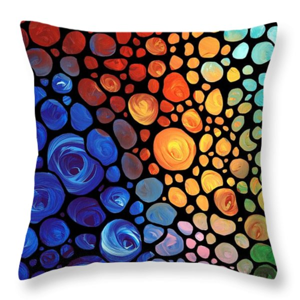 Abstract 1 Throw Pillow by Sharon Cummings