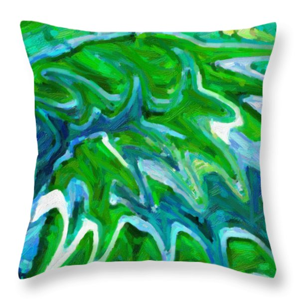 Abstract 16 Throw Pillow by Kenny Francis