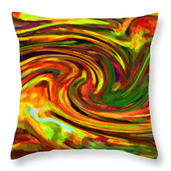 Abstract 17 Throw Pillow by Kenny Francis