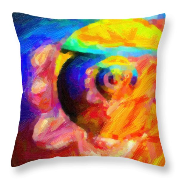 Abstract 18 Throw Pillow by Kenny Francis