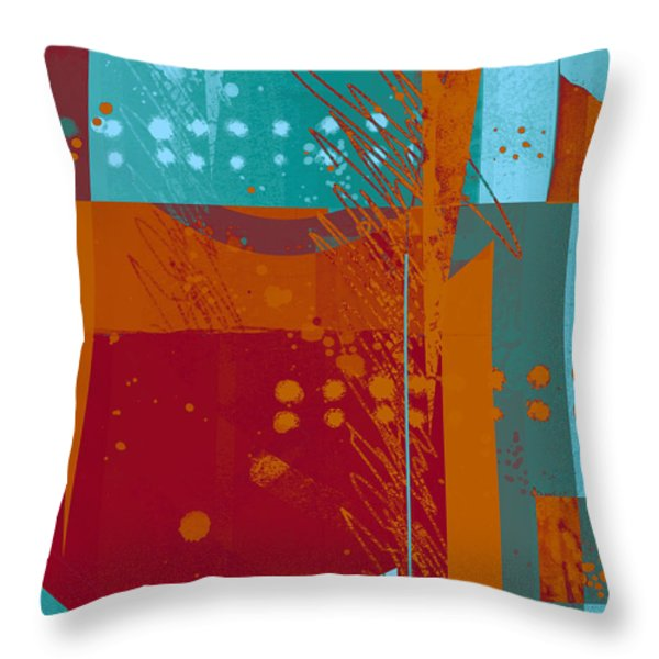 Abstract 203 Throw Pillow by Ann Powell