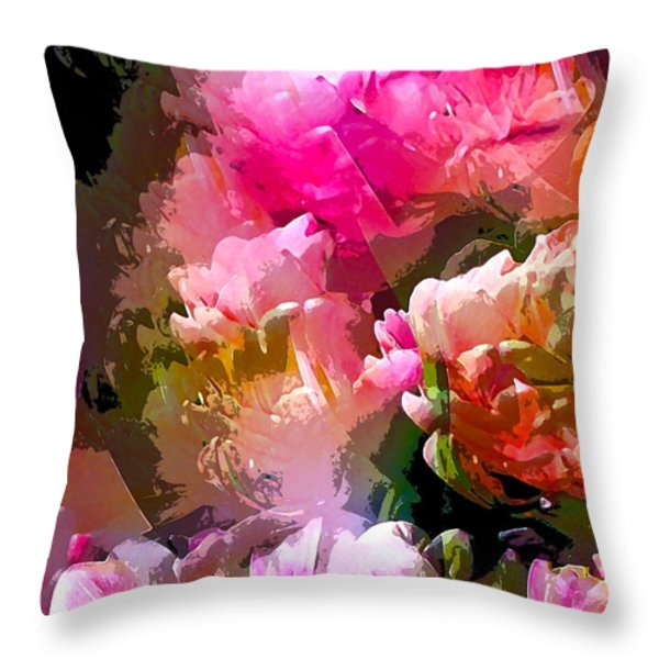 Abstract 272 Throw Pillow by Pamela Cooper
