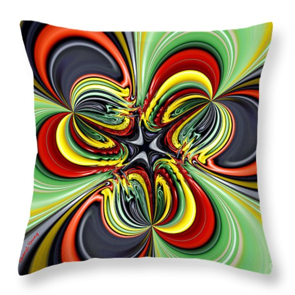 Abstract 301 Throw Pillow by Cheryl Young