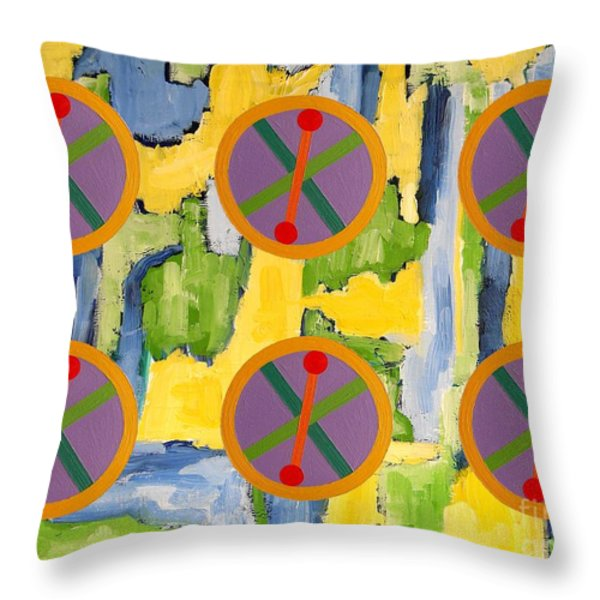 Abstract 82 Throw Pillow by Patrick J Murphy