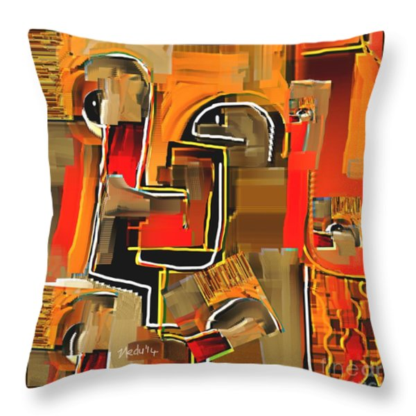 Abstract 973 Throw Pillow by Nedunseralathan R
