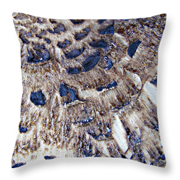 Abstract Accidental Sapphires Throw Pillow by Linsey Williams