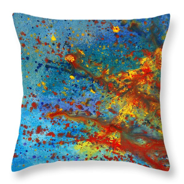 Abstract - Acrylic - Just another Monday Throw Pillow by Mike Savad