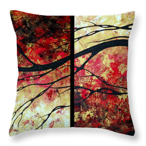 Abstract Art Original Landscape Painting Bring Me Home By Madart Throw Pillow by Megan Duncanson