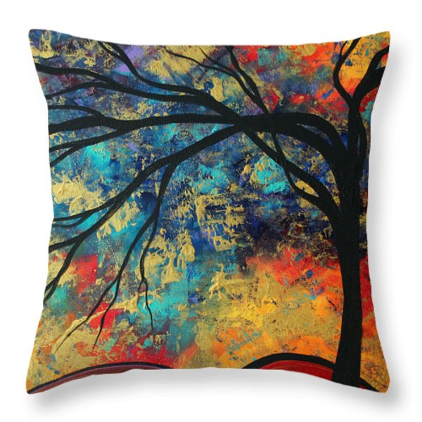Abstract Art Original Landscape Painting Go Forth II By Madart Studios Throw Pillow by Megan Duncanson