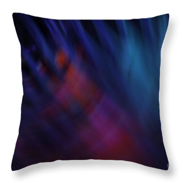 Abstract Blue Pink Green Blur Throw Pillow by Marvin Spates