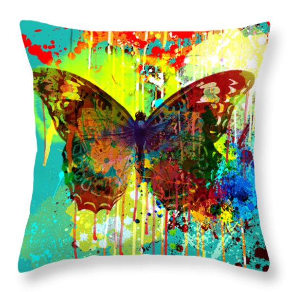Abstract Butterfly Throw Pillow by Gary Grayson