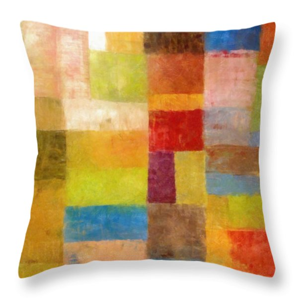 Abstract Color Study Vii Throw Pillow by Michelle Calkins