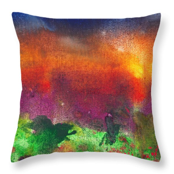 Abstract - Crayon - Utopia Throw Pillow by Mike Savad