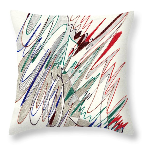 Abstract Drawing Fifty-one Throw Pillow by Lynne Taetzsch