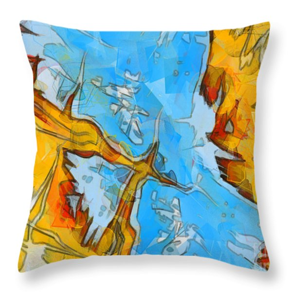 Abstract Elements  Throw Pillow by Pixel Chimp