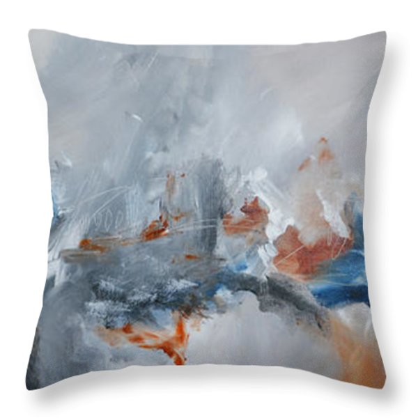 Abstract Expressionist Painting Prints Throw Pillow by Andrada Anghel