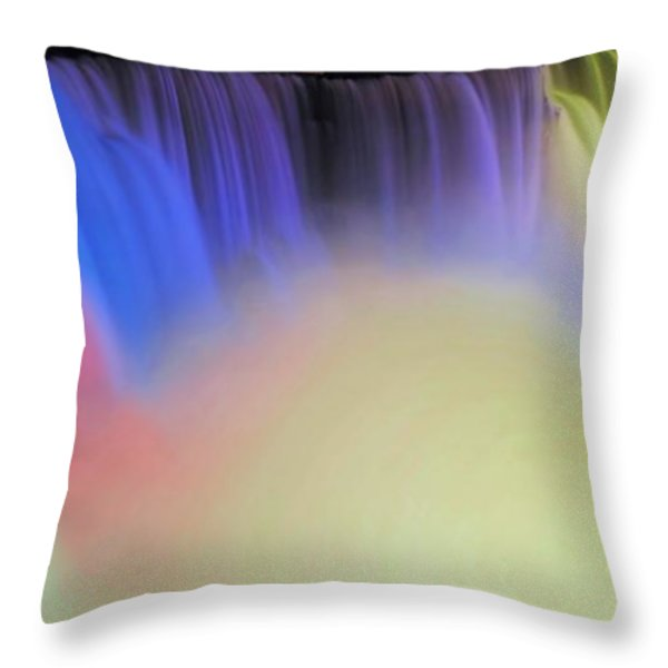 Abstract Falls Throw Pillow by Kathleen Struckle