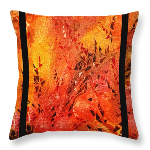 Abstract Fireplace Throw Pillow by Irina Sztukowski