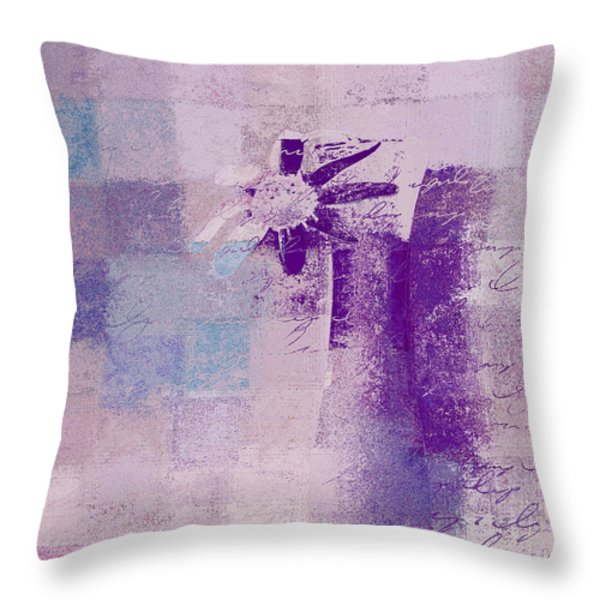 Abstract Floral - a8v4at1a Throw Pillow by Variance Collections