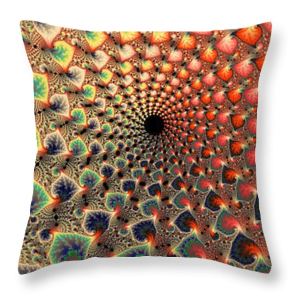 Abstract Floral Fractal Art Tall And Narrow Throw Pillow by Matthias Hauser