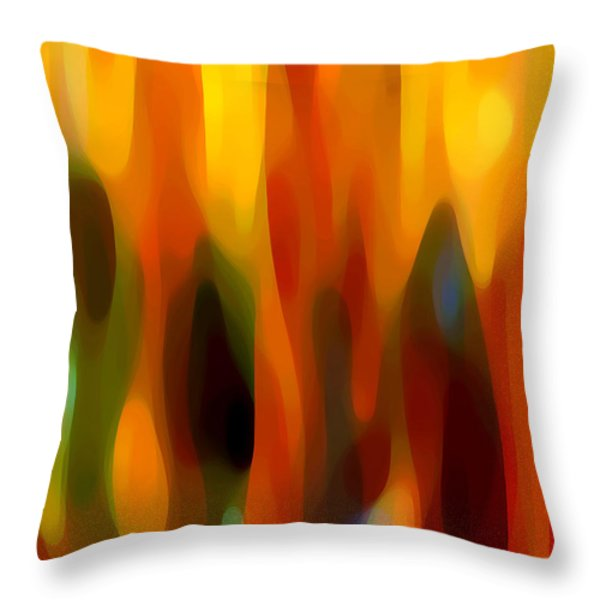 Abstract Forest Throw Pillow by Amy Vangsgard