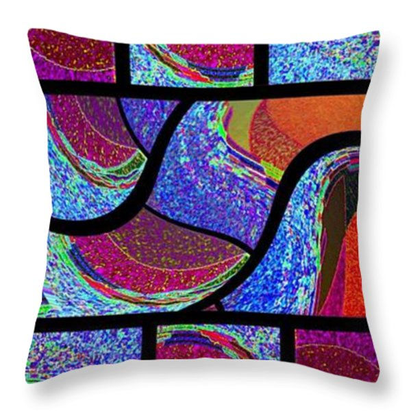 Abstract Fusion 168 Throw Pillow by Will Borden