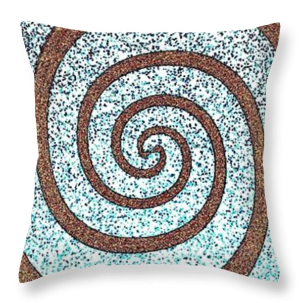 Abstract Fusion 231 Throw Pillow by Will Borden
