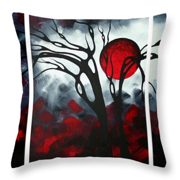 Abstract Gothic Art Original Landscape Painting IMAGINE by MADART Throw Pillow by Megan Duncanson