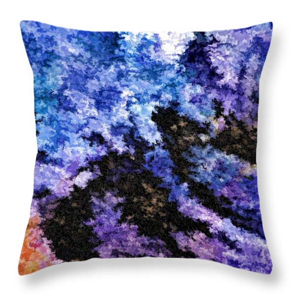 Abstract Granite Throw Pillow by Ludwig Keck