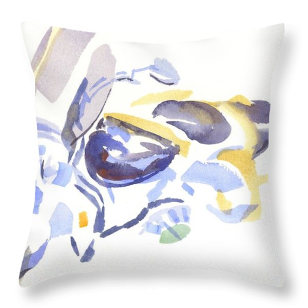 Abstract Harley Throw Pillow by Kip DeVore