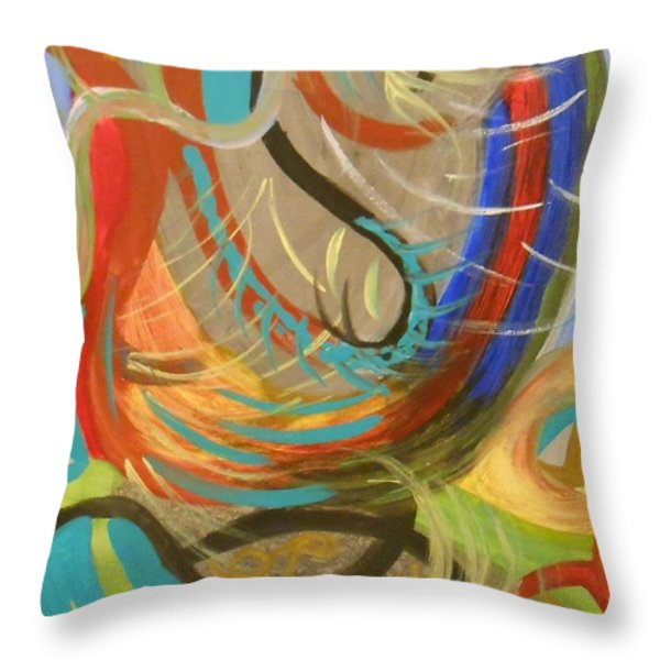 Abstract I Throw Pillow by Julie Crisan