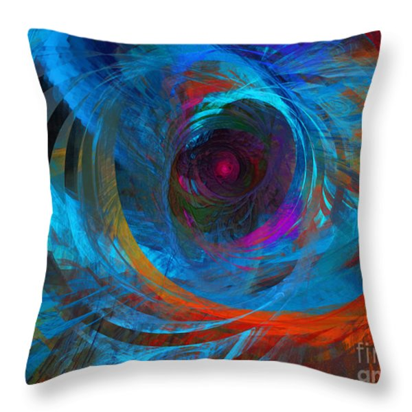 Abstract Jet Propeller Throw Pillow by Andee Design