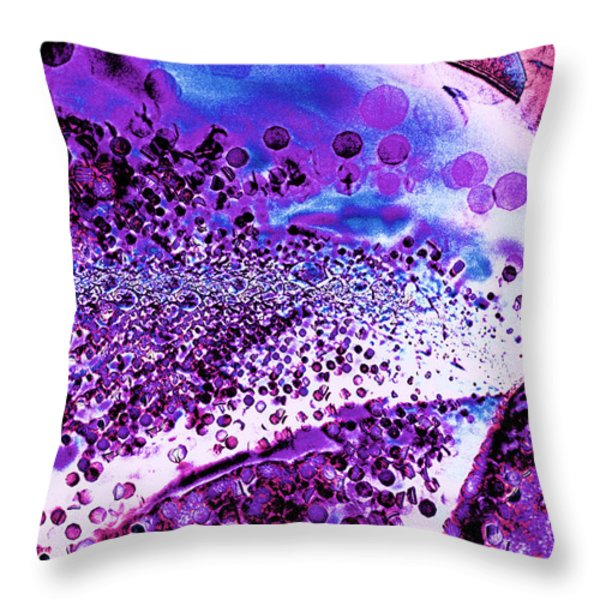 Abstract Leaf And Light IIi Throw Pillow by Natalie Kinnear