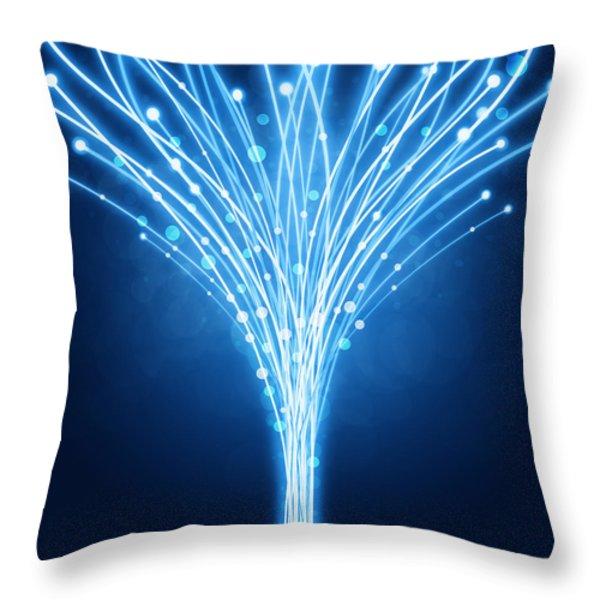 abstract lighting lines Throw Pillow by Setsiri Silapasuwanchai