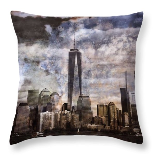 Abstract Manhattan Skyline Throw Pillow by Dan Sproul