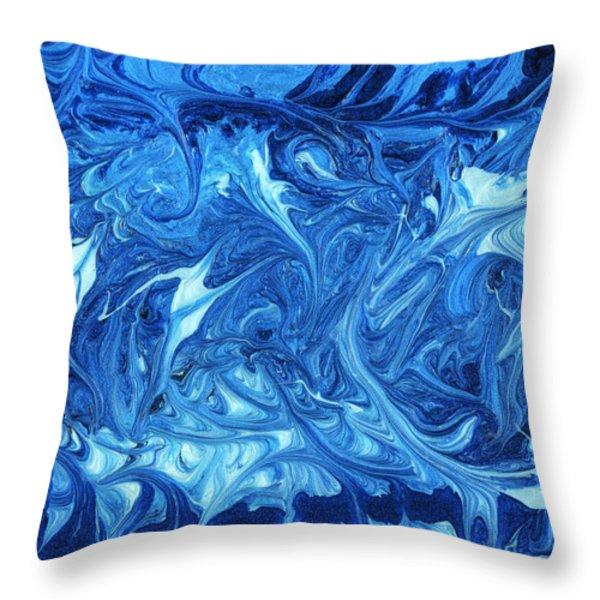 Abstract - Nail Polish - Ocean Deep Throw Pillow by Mike Savad