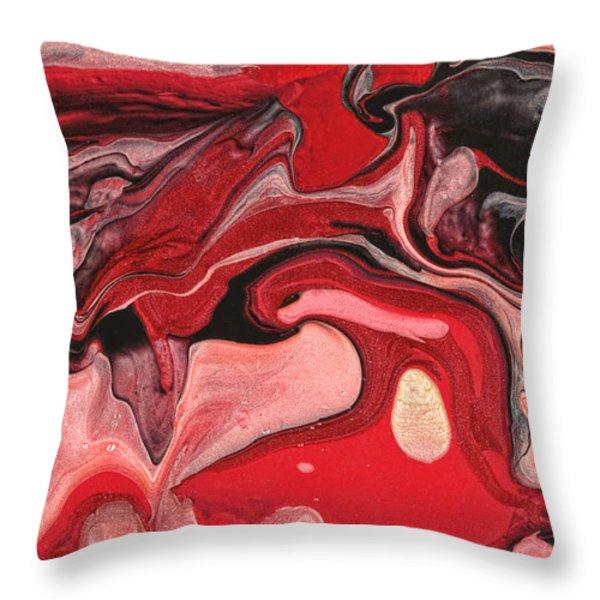 Abstract - Nail Polish - Raspberry Nebula Throw Pillow by Mike Savad